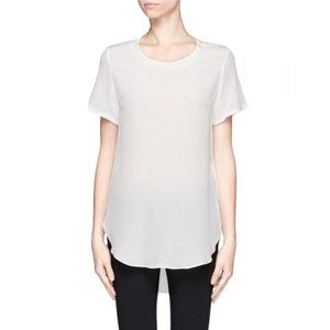 3.1 Phillip Lim Overlapped Side Seams Silk T-Shirt